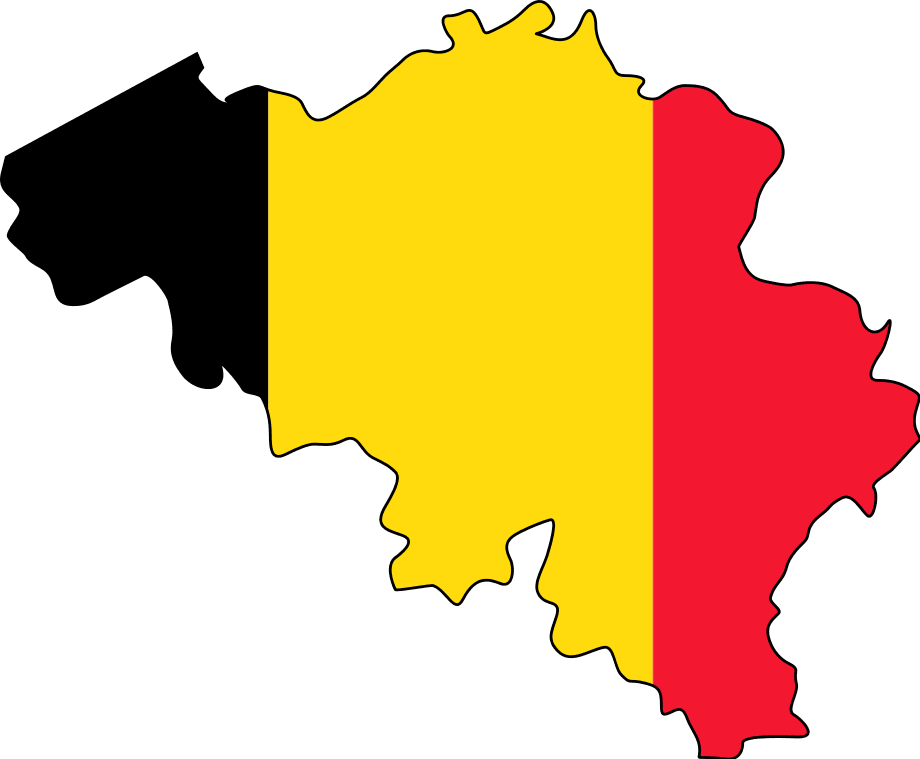 flag and map of belgium • mapsof