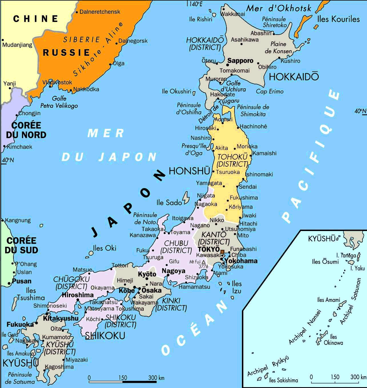 Japan Map With Cities Japan Map 1 • Mapsof.net