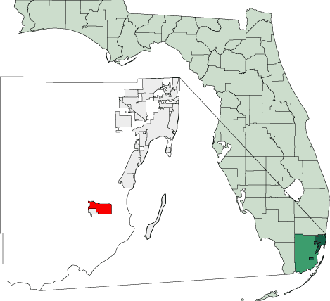 Homestead Florida Map Map of Florida Highlighting Homestead • Mapsof.net