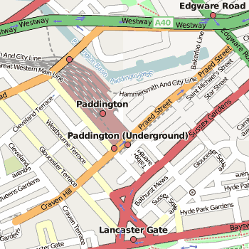Paddington Station Map Paddington Station Location Map • Mapsof.net Paddington Station Map