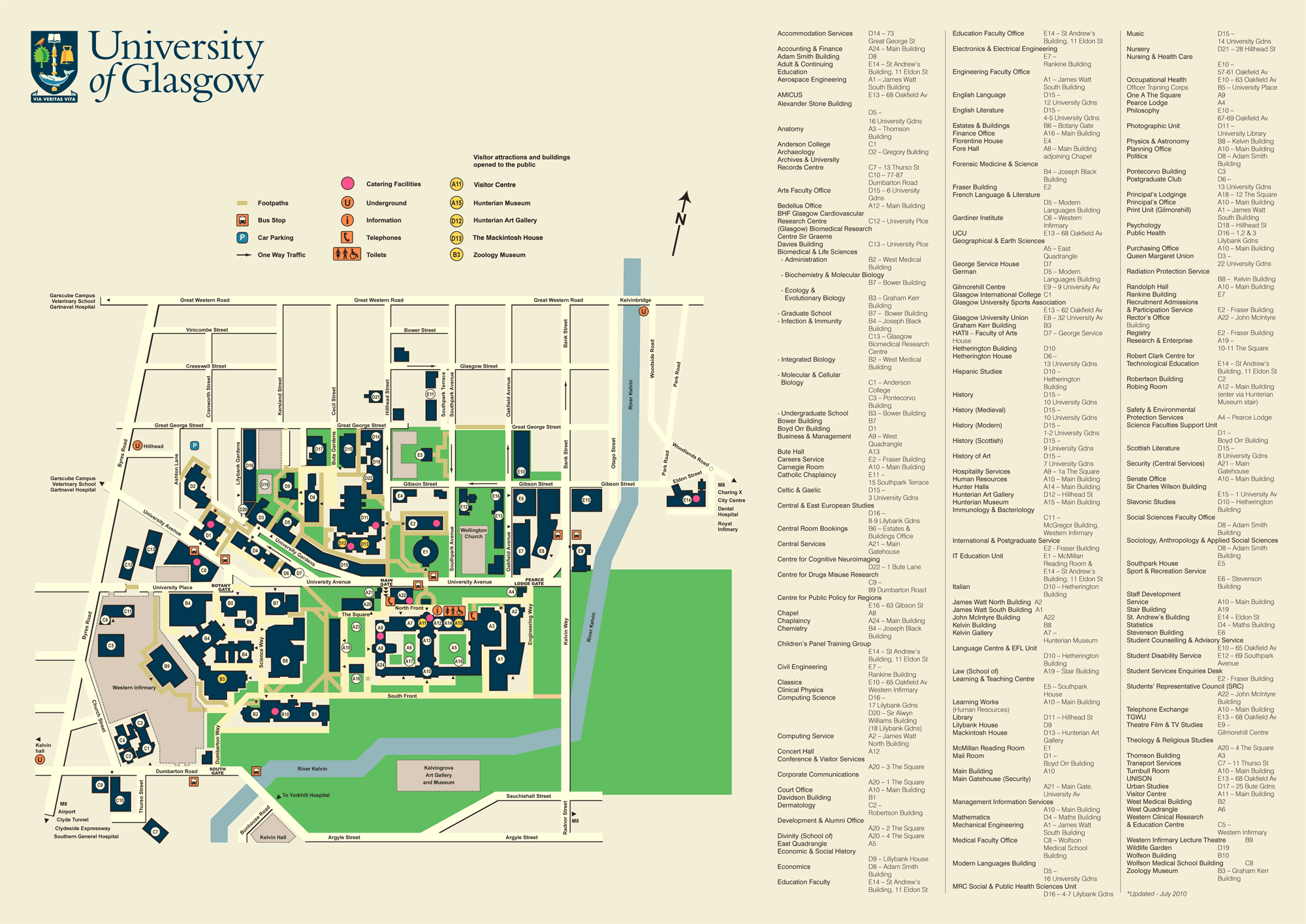 Glasgow Uni Map University of Glasgow Campus • Mapsof.net